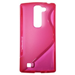 LG G4c/Magna/L Bello Plus - Gumiran ovitek (TPU) - roza-prosojen SLine