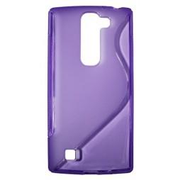 LG G4c/Magna/L Bello Plus - Gumiran ovitek (TPU) - vijolično-prosojen SLine
