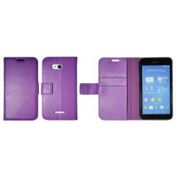 Sony Xperia E4g - Preklopna torbica (WLG) - vijolična