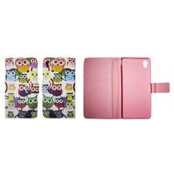Sony Xperia M4 Aqua - Preklopna torbica (WLGP) - Colorful owls