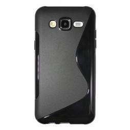 Samsung Galaxy J5 - Gumiran ovitek (TPU) - črn SLine
