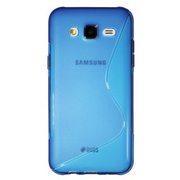 Samsung Galaxy J5 - Gumiran ovitek (TPU) - modro-prosojen SLine