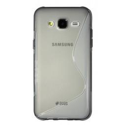Samsung Galaxy J5 - Gumiran ovitek (TPU) - sivo-prosojen SLine
