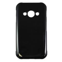 Samsung Galaxy Xcover 3 - Gumiran ovitek (TPU) - črn svetleč
