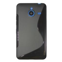 Microsoft Lumia 640 XL - Gumiran ovitek (TPU) - črn SLine