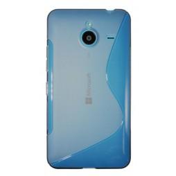 Microsoft Lumia 640 XL - Gumiran ovitek (TPU) - sivo-prosojen SLine