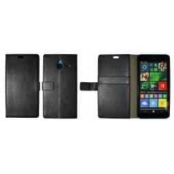 Microsoft Lumia 640 XL - Preklopna torbica (WL) - črna