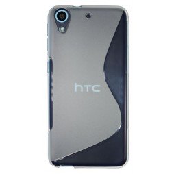 HTC Desire 626/628/650 - Gumiran ovitek (TPU) - belo-prosojen SLine
