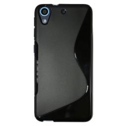 HTC Desire 626/628/650 - Gumiran ovitek (TPU) - črn SLine