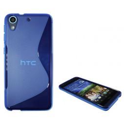 HTC Desire 626/628/650 - Gumiran ovitek (TPU) - modro-prosojen SLine
