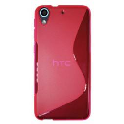 HTC Desire 626/628/650 - Gumiran ovitek (TPU) - roza-prosojen SLine