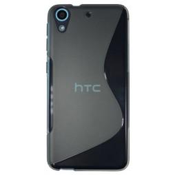 HTC Desire 626/628/650 - Gumiran ovitek (TPU) - sivo-prosojen SLine
