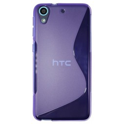 HTC Desire 626/628/650 - Gumiran ovitek (TPU) - vijolično-prosojen SLine