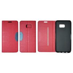 Samsung Galaxy S6 Edge Plus - Preklopna torbica (47G) - rdeča