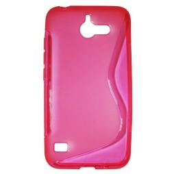 Huawei Ascend Y550 - Gumiran ovitek (TPU) - roza-prosojen SLine
