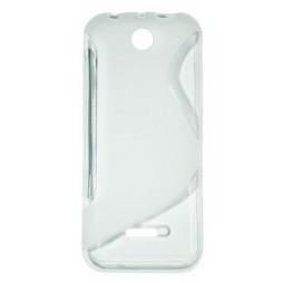 Nokia 225 - Gumiran ovitek (TPU) - belo-prosojen SLine