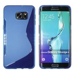Samsung Galaxy S6 Edge Plus - Gumiran ovitek (TPU) - modro-prosojen SLine
