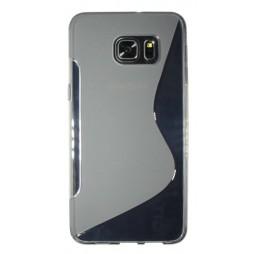 Samsung Galaxy S6 Edge Plus - Gumiran ovitek (TPU) - sivo-prosojen SLine