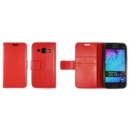 Samsung Galaxy J1 - Preklopna torbica (WLG) - rdeča