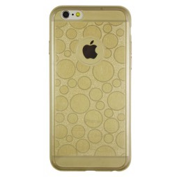 Apple iPhone 6/6S - Gumiran ovitek (21krogci) - zlat