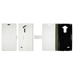 LG G4 Stylus - Preklopna torbica (WL) - bela