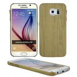 Samsung Galaxy S6 - Gumiran ovitek (27) - svetlo rjav