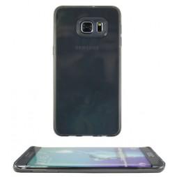 Samsung Galaxy S6 Edge Plus - Gumiran ovitek (TPU) - sivo-prosojen prosojna