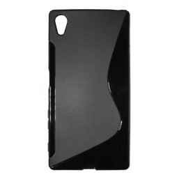 Sony Xperia Z5 - Gumiran ovitek (TPU) - črn SLine