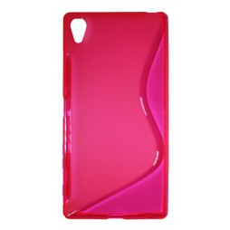 Sony Xperia Z5 - Gumiran ovitek (TPU) - roza-prosojen SLine