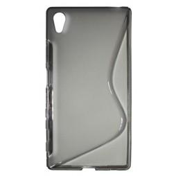 Sony Xperia Z5 - Gumiran ovitek (TPU) - sivo-prosojen SLine