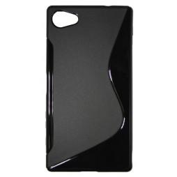 Sony Xperia Z5 Compact - Gumiran ovitek (TPU) - črn SLine
