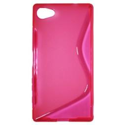 Sony Xperia Z5 Compact - Gumiran ovitek (TPU) - roza-prosojen SLine
