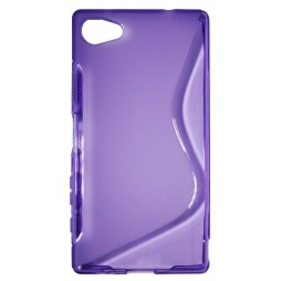 Sony Xperia Z5 Compact - Gumiran ovitek (TPU) - vijolično-prosojen SLine