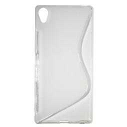 Sony Xperia Z5 Premium - Gumiran ovitek (TPU) - belo-prosojen SLine