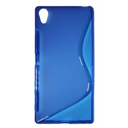 Sony Xperia Z5 Premium - Gumiran ovitek (TPU) - modro-prosojen SLine