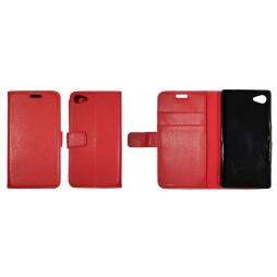 Sony Xperia Z5 Compact - Preklopna torbica (WLG) - rdeča
