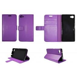 Sony Xperia Z5 Compact - Preklopna torbica (WLG) - vijolična