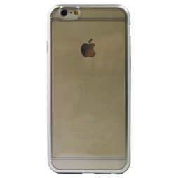 Apple iPhone 6/6S - Gumiran ovitek (TPUE) - rob srebrn