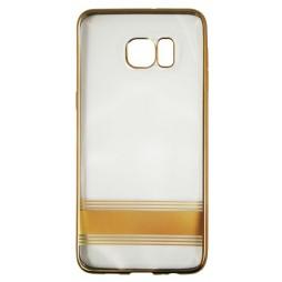 Samsung Galaxy S6 Edge Plus - Gumiran ovitek (TPUE) - črta zlata