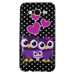Samsung Galaxy J5 - Gumiran ovitek (TPUP) - Owls in love