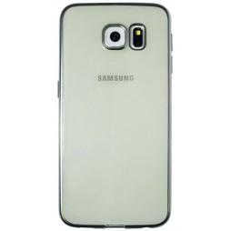 Samsung Galaxy S6 - Gumiran ovitek (TPUE) - rob srebrn