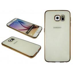 Samsung Galaxy S6 - Gumiran ovitek (TPUE) - rob zlat