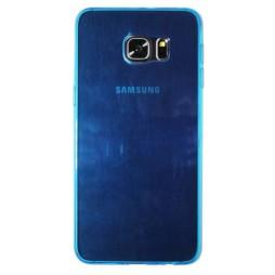 Samsung Galaxy S6 Edge Plus - Gumiran ovitek (TPUA) - modro-prosojen