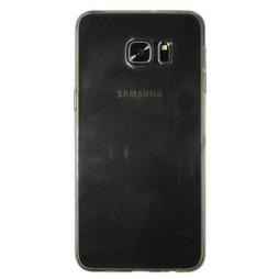 Samsung Galaxy S6 Edge Plus - Gumiran ovitek (TPUA) - sivo-prosojen