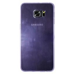 Samsung Galaxy S6 Edge Plus - Gumiran ovitek (TPUA) - vijolično-prosojen