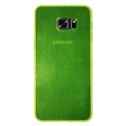 Samsung Galaxy S6 Edge Plus - Gumiran ovitek (TPUA) - zeleno-prosojen