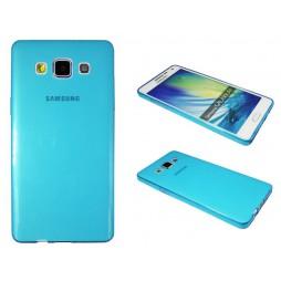 Samsung Galaxy A5 - Gumiran ovitek (TPUA) - modro-prosojen