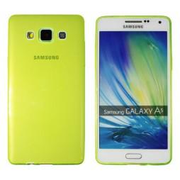 Samsung Galaxy A5 - Gumiran ovitek (TPUA) - zeleno-prosojen