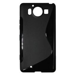Microsoft Lumia 950 - Gumiran ovitek (TPU) - črn SLine