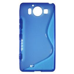 Microsoft Lumia 950 - Gumiran ovitek (TPU) - modro-prosojen SLine